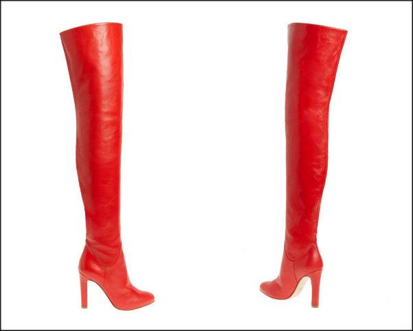 francesco russo, red boots, botas rojas, shopping, trend
