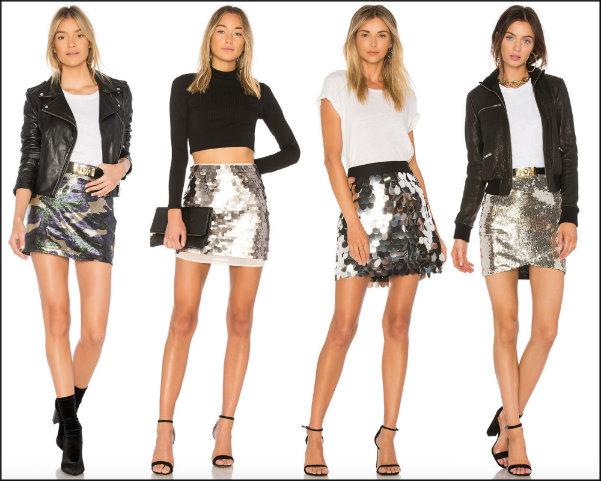 sequin skirt, minifalda lentejuelas, vestidos fiesta, party dresses, sequin trend