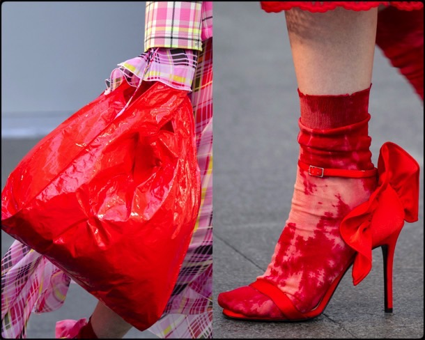 red shoes, zapatos rojos, red bags, bolsos, trend, spring 2018