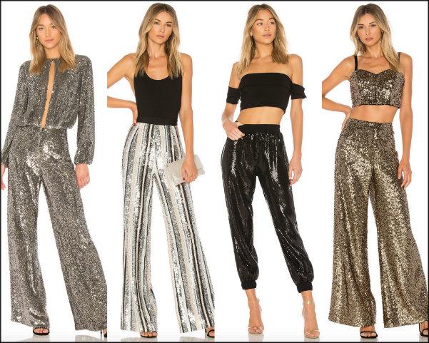sequin trousers, pantalon lentejuelas, looks fiesta, party looks, sequin trend