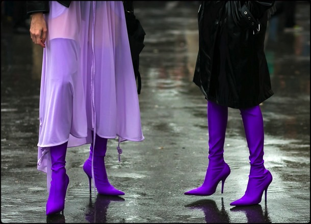 fashion, ultra violet, color, trend, 2018, pantone, balenciaga, looks, streetstyle, shoes, tendencias, color