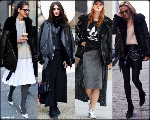 acne, acne studios, celebrity fashion, winter fashion, fashion, jacket, leather jacket, shearling, streetstyle