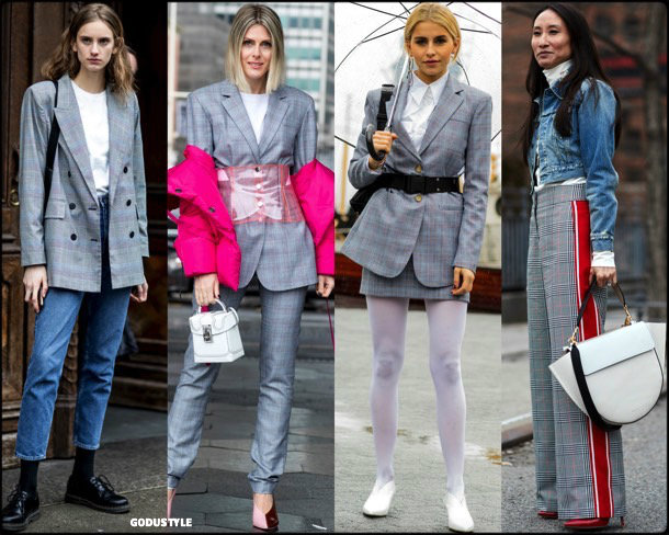 street style, trends, nyfw, fall 2018, check, looks, otoño 2018, cuadros, tendencias, invierno 2019, fashion