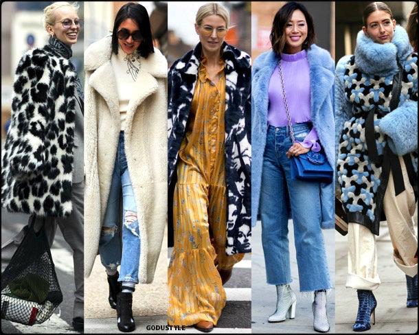 street style, trends, nyfw, fall 2018, fur, looks, otoño 2018, tendencias, piel, invierno 2019, fashion