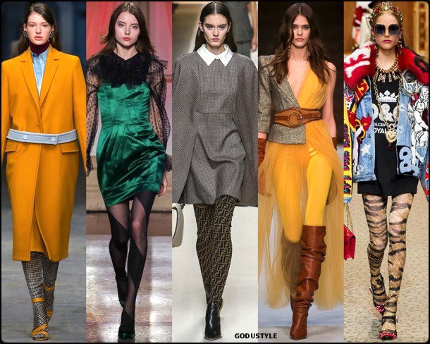 panties, medias, fall 2018, invierno 2019, trend, tendencia, mfw, looks, runway, style, details, milan fashion week