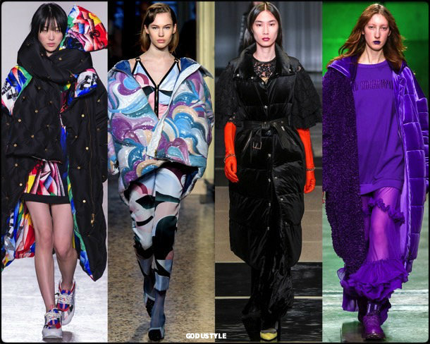 puffer, plumas, fall 2018, invierno 2019, trend, tendencia, mfw, looks, runway, style, details, milan fashion week