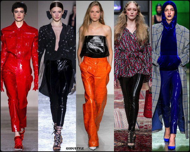 pvc, plastico, fall 2018, invierno 2019, trend, tendencia, mfw, looks, runway, style, details, milan fashion week