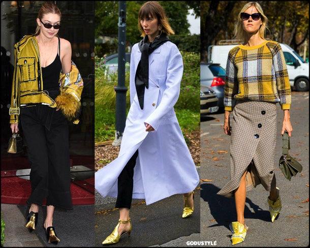 kitten heels, gigi hadid, spring 2018, trend, zapatos, tendencia, verano 2018, looks, streetstyle, shopping
