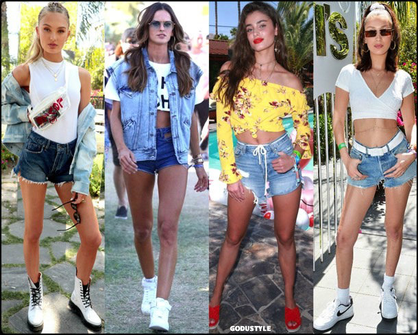 boho chic, looks, coachella, coachella 2018, trends, looks, style, tendencias, shorts, bella hadid, streetstyle