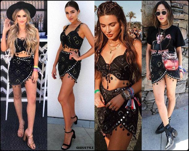 boho chic, looks, coachella, coachella 2018, trends, looks, style, tendencias, verano 2018, streetstyle
