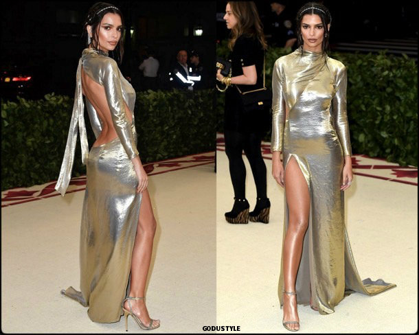 emily ratajkowski, met 2018, gala, fashion, celebrity, look, style, details, celebrities, outfits, red carpet