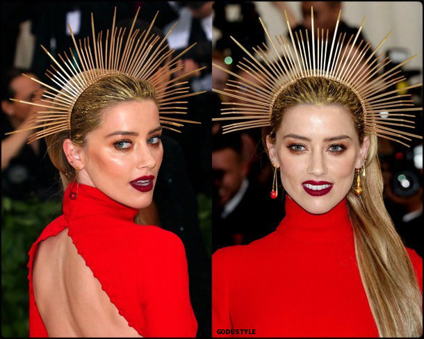 amber heard, met 2018, gala, fashion, celebrity, look, style, details, celebrities, outfits, red carpet