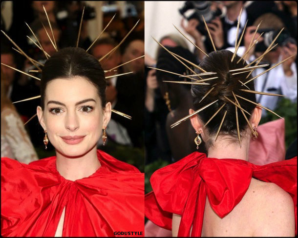 anne hathaway, met 2018, gala, fashion, celebrity, look, style, details, celebrities, outfits, red carpet