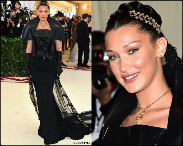 bella hadid, met 2018, gala, fashion, celebrity, look, style, details, celebrities, outfits, red carpet