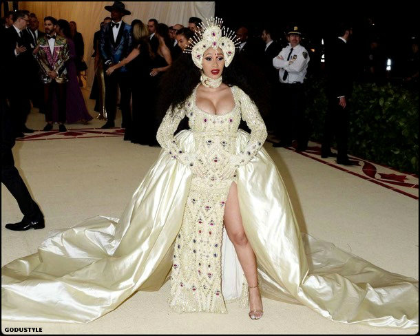 cardi b, met 2018, gala, fashion, celebrity, look, style, details, celebrities, outfits, red carpet