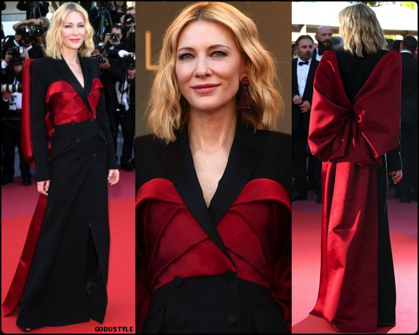 cate blanchett, fashion, looks, cannes 2018, style, givenchy, details, red carpets, celebrities, outfits
