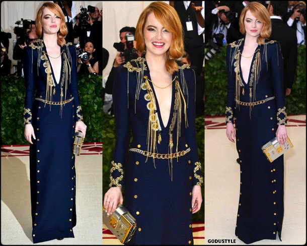 emma stone, met 2018, gala, fashion, celebrity, look, style, details, celebrities, outfits, red carpet