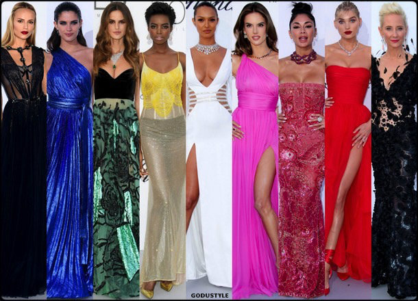 fashion, looks, amfar, cannes 2018, style, party dresses, details, red carpets, celebrities, outfits, models