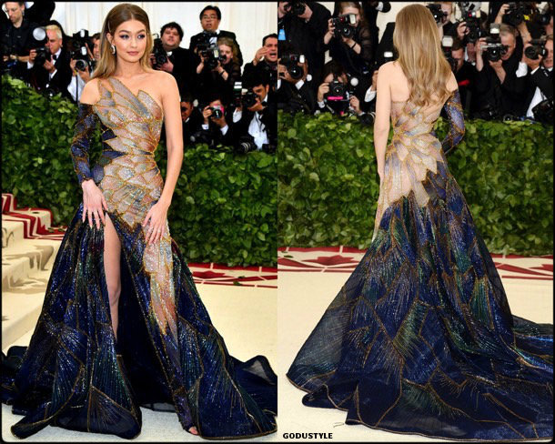gigi hadid, met 2018, gala, fashion, celebrity, look, style, details, celebrities, outfits, red carpet