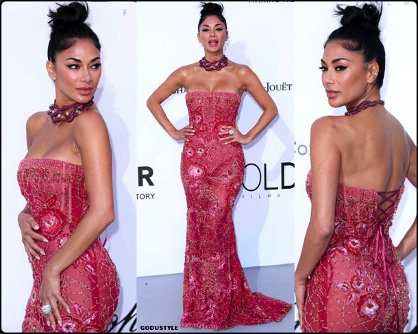 nicole scherzinger, fashion, looks, amfar, cannes 2018, style, party dresses, details, red carpets, celebrities, outfits