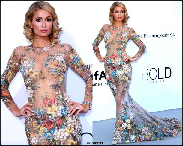 paris hilton, fashion, looks, amfar, cannes 2018, style, party dresses, details, red carpets, celebrities, outfits