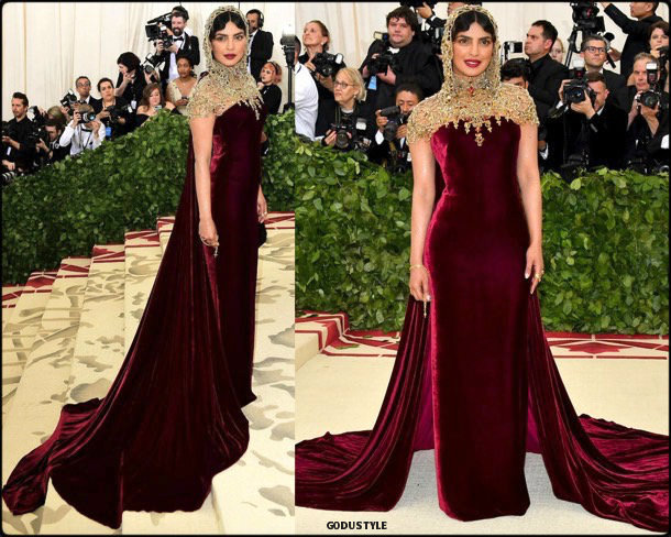 priyanka chopra, met 2018, gala, fashion, celebrity, look, style, details, celebrities, outfits, red carpet