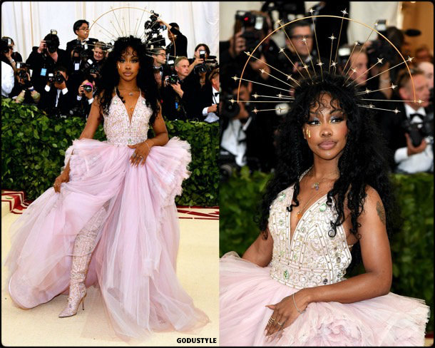 sza, met 2018, gala, fashion, celebrity, look, style, details, celebrities, outfits, red carpet