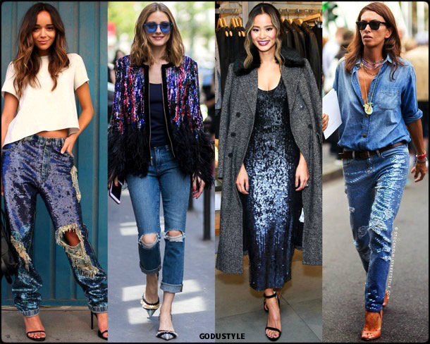 olivia palermo, sequin, lentejuelas, look, street style, fashion, trend, details, style, shopping, outfits, tendencias