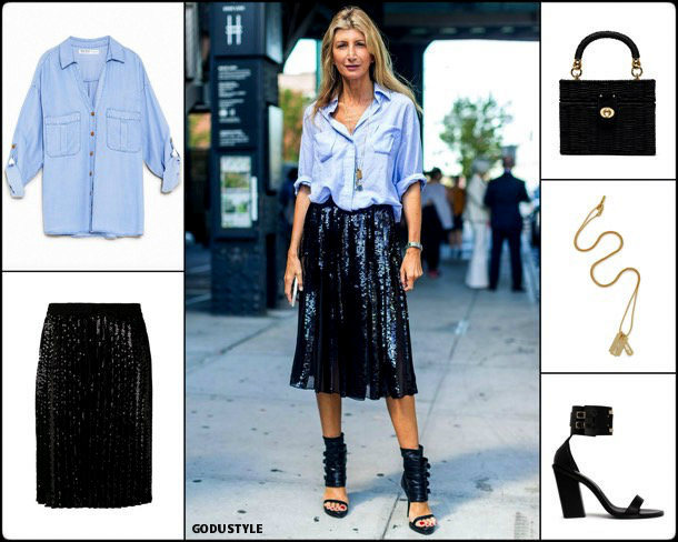 sarah rutson, sequin, lentejuelas, look, street, style, fashion, trend, details, style, shopping, outfits, tendencias