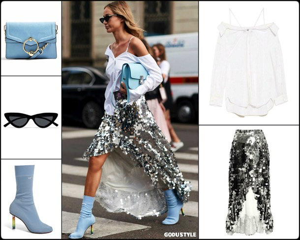 sequin, skirt, lentejuelas, look, street style, fashion, trend, details, style, shopping, outfits, tendencias