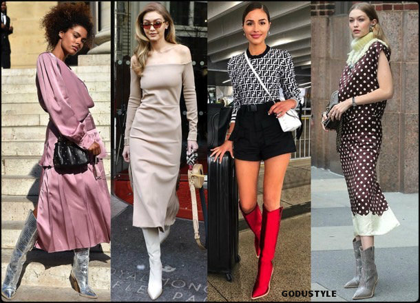 fendi, cowboy, boots, botas, vaqueras, looks, street style, fall 2018, trend, details, style, shopping, outfits, tendencias