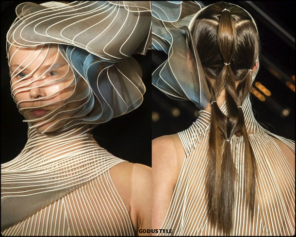 iris van herpen, couture, fall 2018, looks, style, details, haute couture, alta costura, otoño 2018, shoes, beauty look