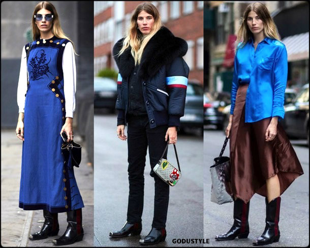 veronika heilbrunner, calvin klein, cowboy, boots, botas, vaqueras, looks, street style, fall 2018, trend, details, tendencias