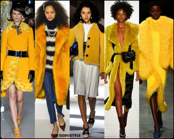 yellow, amarillo, fur, runways, looks, fashion weeks, street style, fall 2018, trend, details, shopping, tendencias
