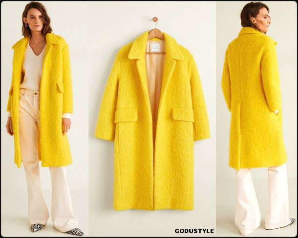 yellow, mango, coat, abrigo, amarillo, looks, street style, fall 2018, trend, details, shopping, otoño 2018