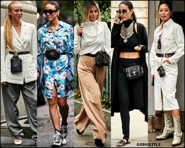 belt bags, trends, fall 2018, street style, nyfw, spring 2019, looks, style, details, otoño 2019, moda, must-haves