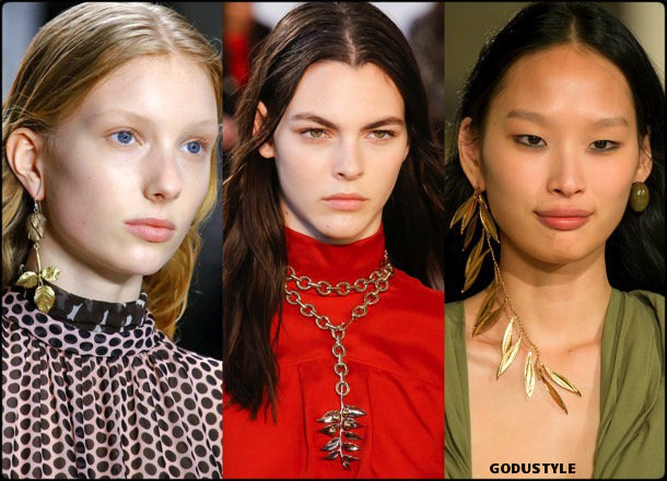 necklaces, collares, hojas, jewelry, fall 2018, winter 2019, joyas, otoño 2018, invierno 2019, trends, tendencias