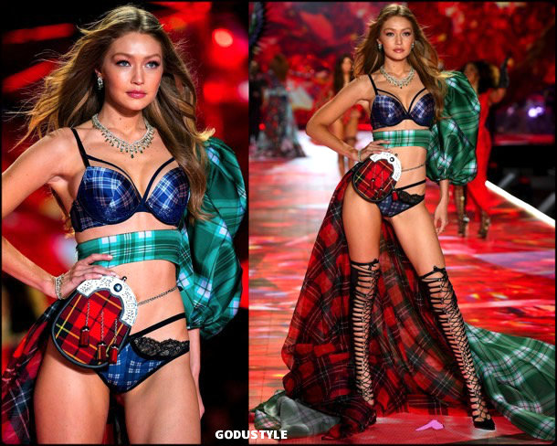 gigi hadid, victorias secret, 2018, fashion show, desfile, victorias secret 2018, models, looks, style, details