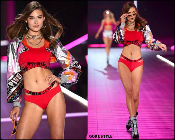 grace elizabeth, victorias secret, 2018, fashion show, desfile, victorias secret 2018, models, look, style, details