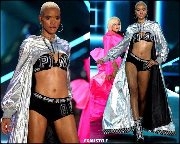 iesha hodges, victorias secret, 2018, fashion show, desfile, victorias secret 2018, models, look, style, details