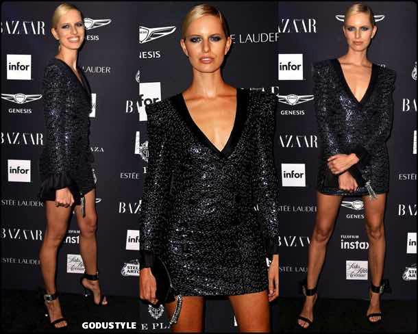 karolina kurkova, vestido tuxedo, trend, tendencia, vestido fiesta, party dress, shopping, look, style