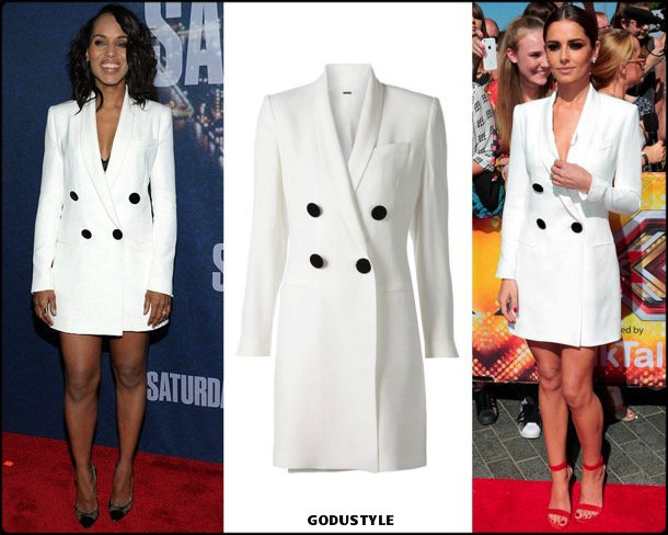 tuxedo dress, celebrities, vestido tuxedo, trend, tendencia, vestido fiesta, party dress, shopping, look, style