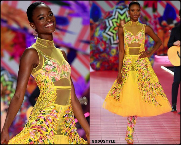mayowa nicholas, victorias secret, 2018, fashion show, desfile, victorias secret 2018, models, look, style, details