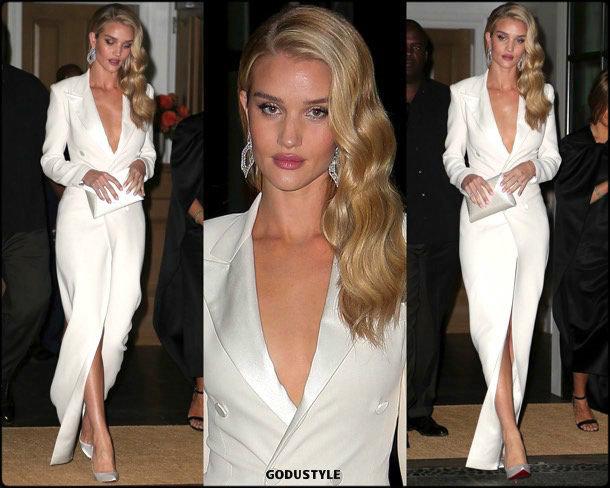 rosie huntington whiteley, tuxedo dress, vestido tuxedo, trend, tendencia, vestido fiesta, party dress, shopping, look, style