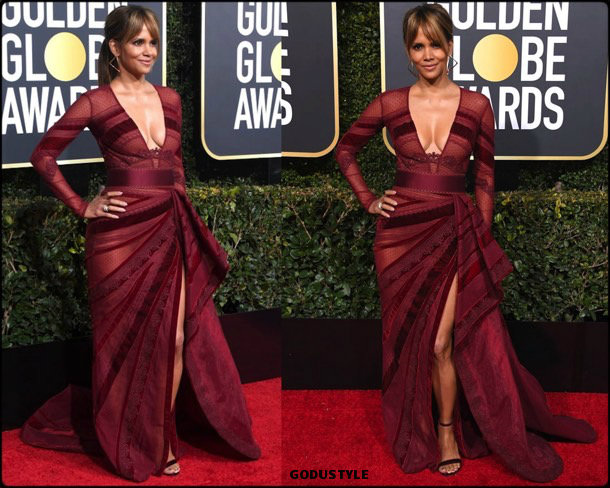 halle berry, golden globes, party, looks 2019, red carpets, looks, style, details, fashion, globos oro