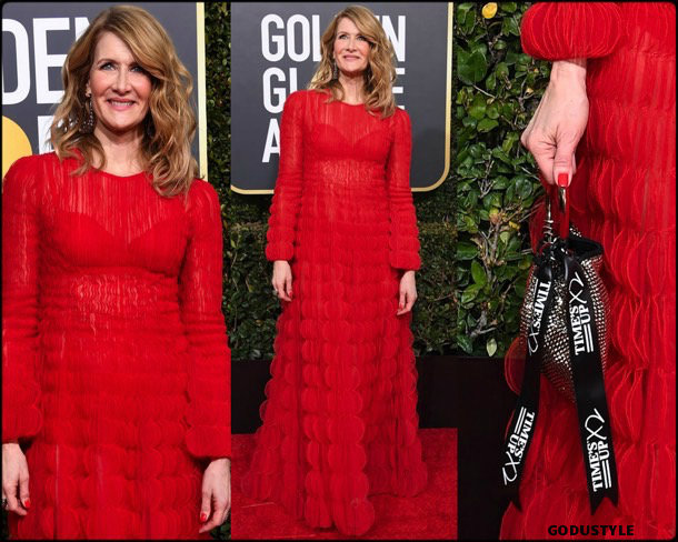 laura dern, golden globes, party, looks 2019, red carpets, looks, style, details, fashion, globos oro
