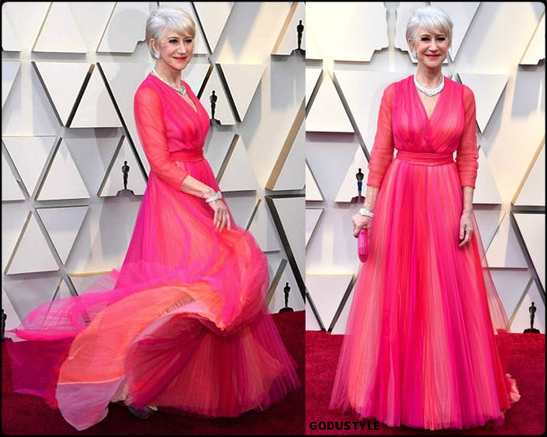 hellen mirren, oscar 2019, red carpet, best, fashion, look, beauty, style, details, celebrities, review, alfombra roja