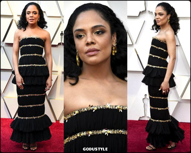 tessa-thompson-oscars-2019-red-carpet-best-dressed-look-style-details-godustyle