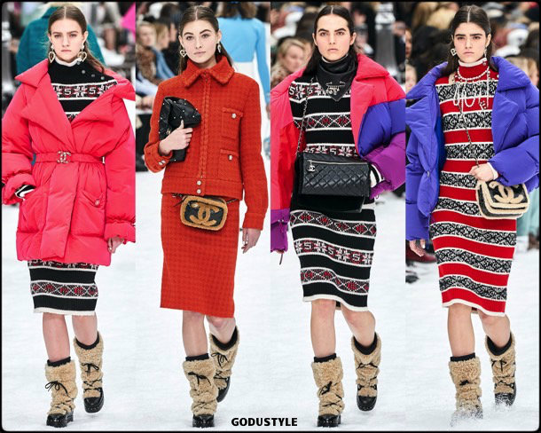 chanel, fall 2019, invierno 2020, collection, pfw, look, style, details, shoes, jewelry, accessories, beauty
