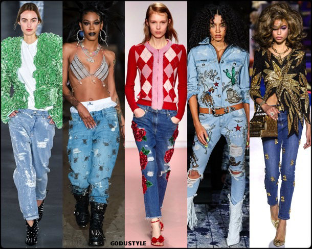 denim, jeans, fall 2019, fashion, trends, tendencias, moda, otoño 2019, invierno 2020, look, style, details, fashion weeks